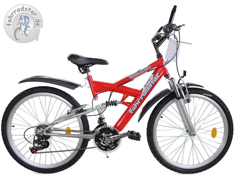 mountainbike 24 zoll fully mtb kinderfahrrad shimano 18g. Black Bedroom Furniture Sets. Home Design Ideas